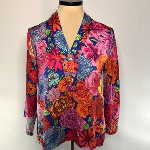 Notorious Print Long Sleeve Blouse